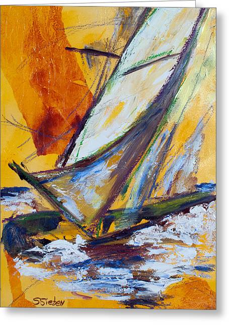 My Ocean Greeting Cards - Sail Away III Greeting Card by Sharon Sieben
