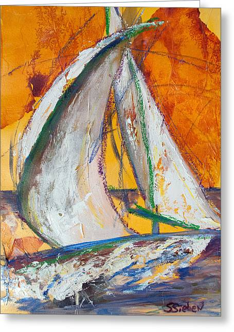 My Ocean Greeting Cards - Sail Away IV Greeting Card by Sharon Sieben