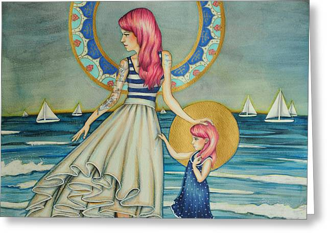 Sail Away Greeting Card by Lucy Stephens
