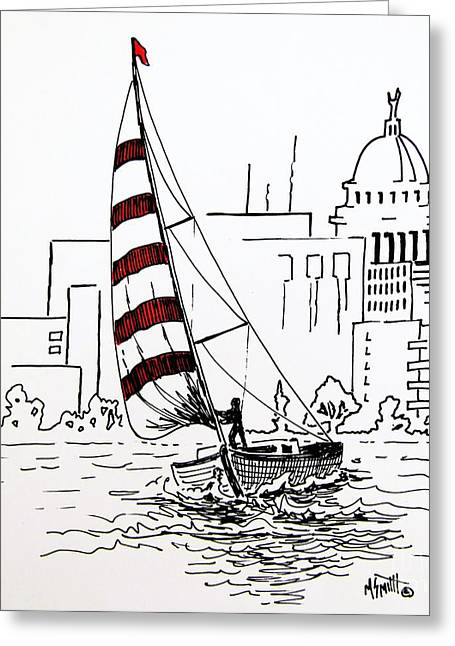 Capitol Drawings Greeting Cards - Sail Away Greeting Card by Marilyn Smith