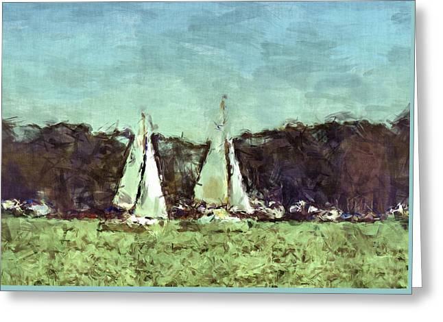 Sail Away Greeting Card by Susan Leggett