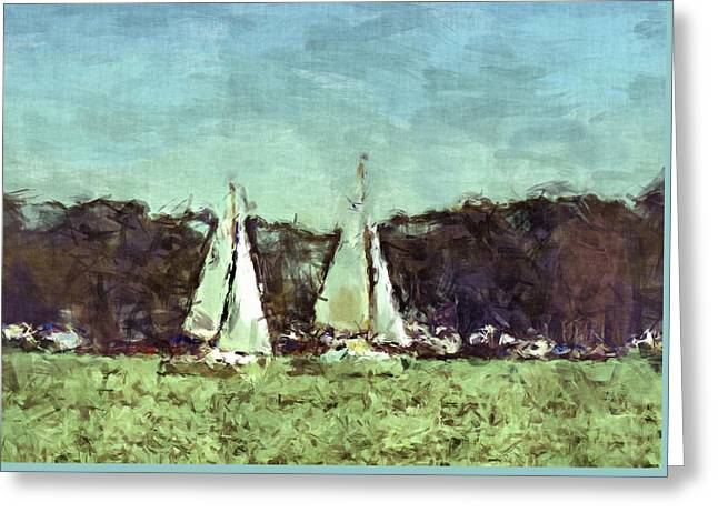 Sail Away Greeting Card by Susan Leggett
