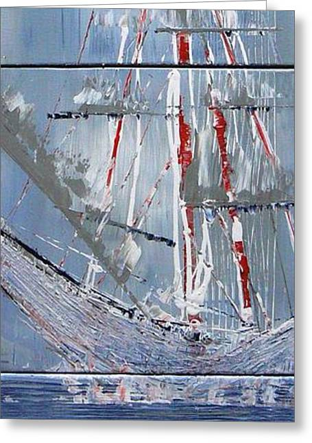 Pirate Ships Greeting Cards - Sail Away Greeting Card by Tia Marie McDermid