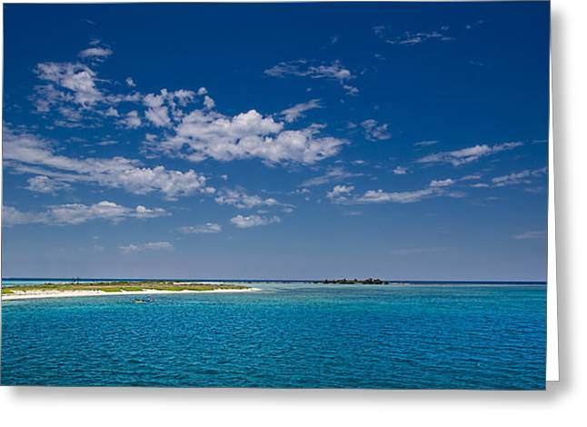 Dry Tortugas Greeting Cards - Sail Boat at the Dry Tortugas Greeting Card by Tim Dahl