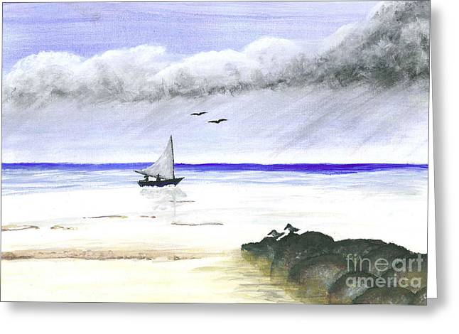 Wahoo Greeting Cards - Sailin home Greeting Card by Jerome Wilson