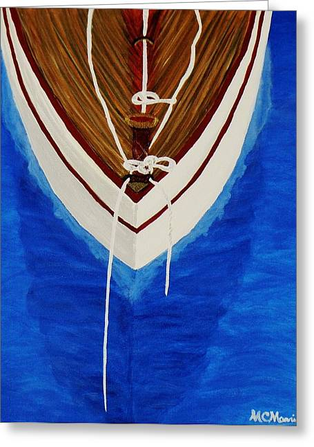 Sailboats In Water Greeting Cards - Sail On Greeting Card by Celeste Manning