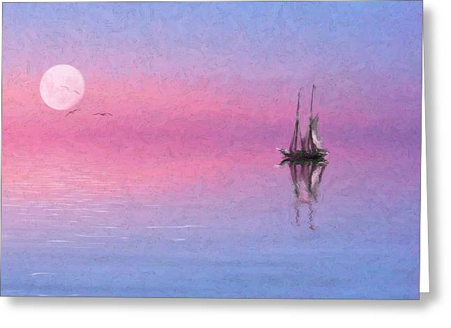 Sail On Greeting Card by Michael Petrizzo