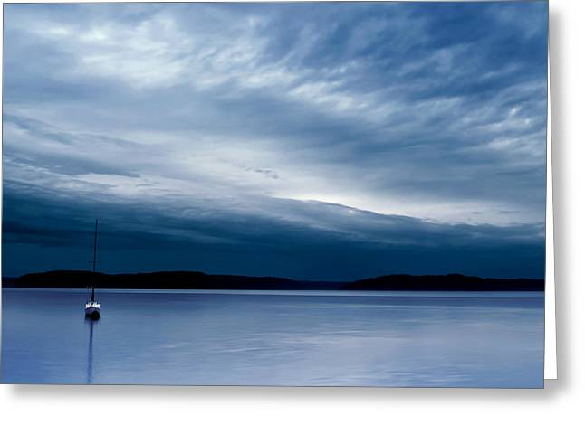 Commencement Bay Greeting Cards - Sail On Greeting Card by Ryan Manuel