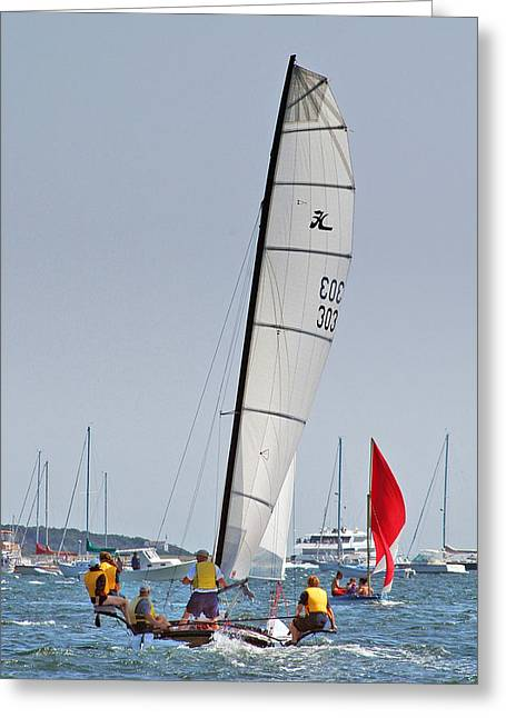 Westport Ct Greeting Cards - Sail On...Compo Beach Greeting Card by Joann Vitali