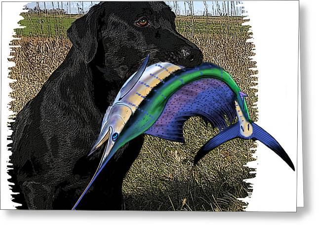 Hunting Bird Greeting Cards - Sail Retriever  Greeting Card by Carey Chen