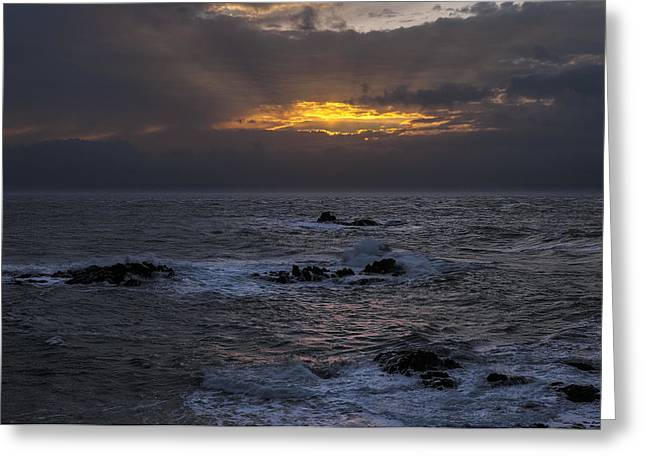 Quoddy Head State Park Greeting Cards - Sail Rock Sunrise 2 Greeting Card by Marty Saccone