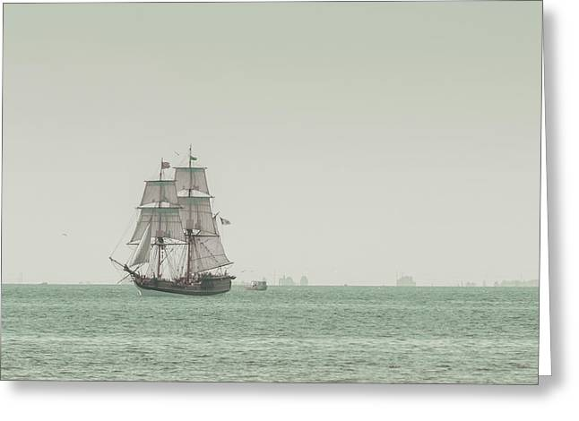 Fishing Boats Greeting Cards - Sail Ship 1 Greeting Card by Lucid Mood