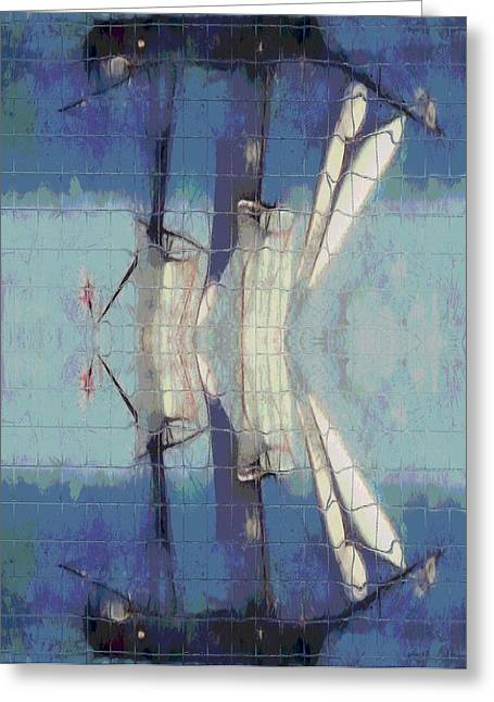 Mackinaw City Greeting Cards - Sail Ship Reflection Greeting Card by Dan Sproul