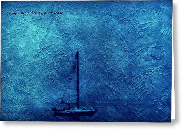 Ocean Photography Greeting Cards - Sailboat as a painting Greeting Card by Karl Rose