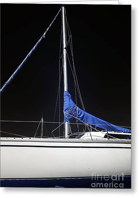Azur Greeting Cards - Sailboat Hull Greeting Card by John Rizzuto
