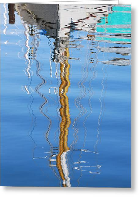 Sailboat Images Greeting Cards - Sailboat Reflection Greeting Card by Jani Freimann