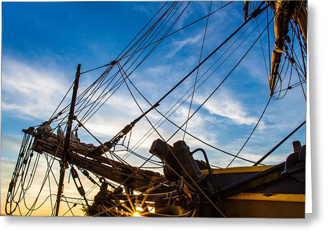Sailboat Sunrise Greeting Card by Robert Bynum