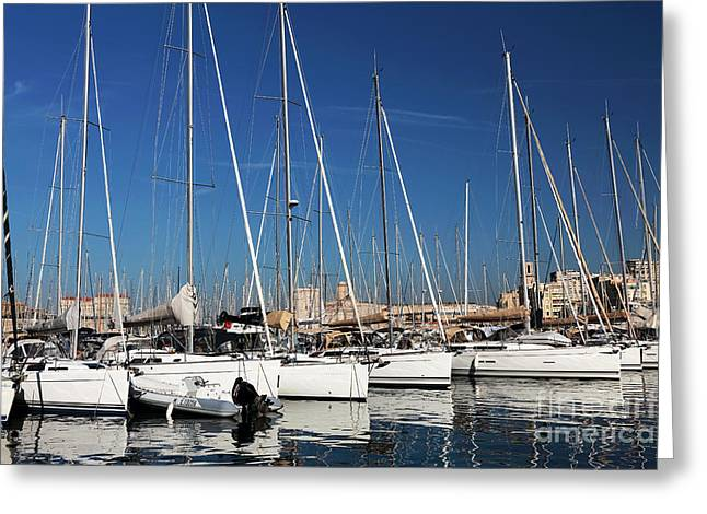 Sailboat Art Greeting Cards - Sailboat Symmetry Greeting Card by John Rizzuto