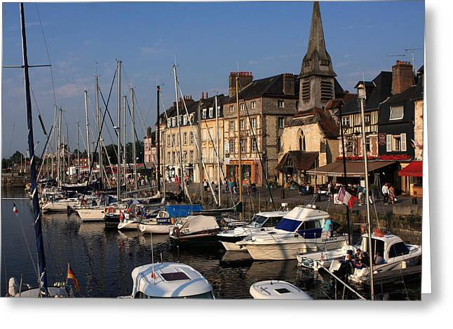 Village Life Greeting Cards - Sailboats In The Harbour Greeting Card by Aidan Moran