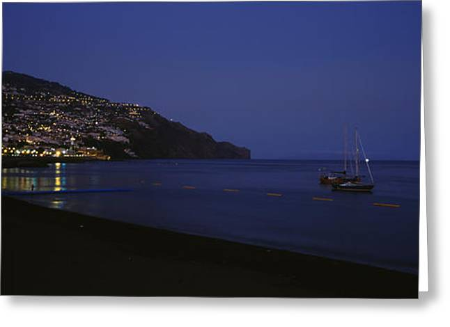 Sailboat Images Greeting Cards - Sailboats In The Sea, Funchal, Madeira Greeting Card by Panoramic Images