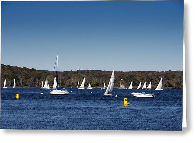 Connecticut River Greeting Cards - Sailboats on the Connecticut River Greeting Card by Carol M Highsmith