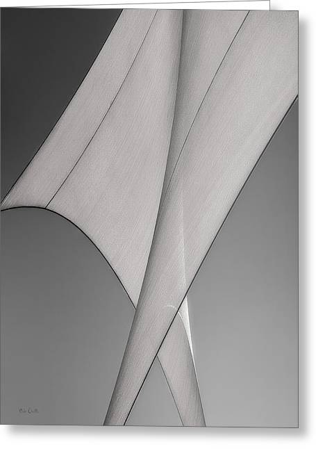 Industrial Abstract Greeting Cards - Sailcloth Abstract Number 3 Greeting Card by Bob Orsillo