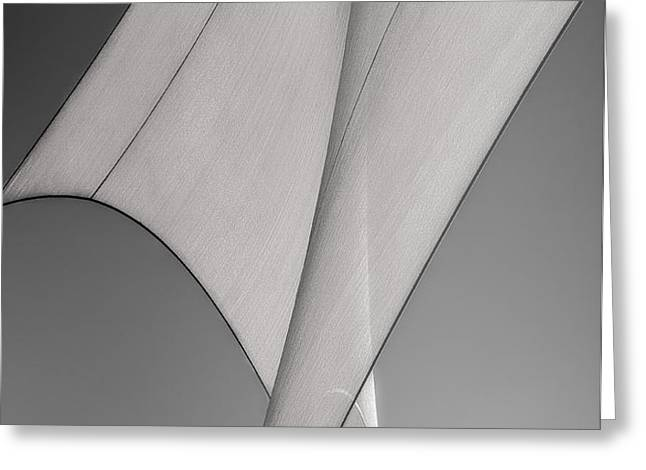 Sailcloth Abstract Number 3 Greeting Card by Bob Orsillo