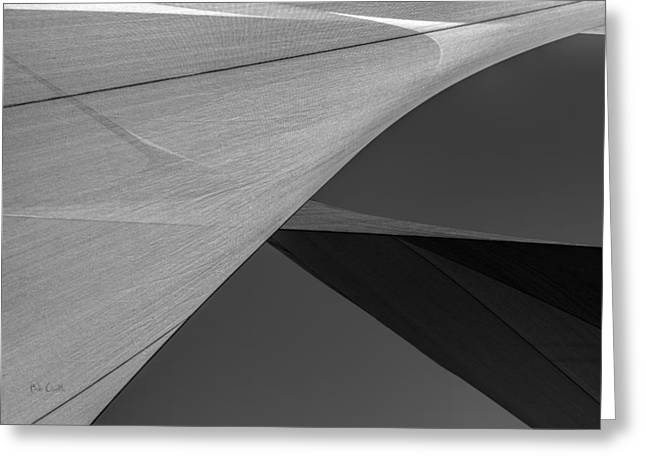 Sailcloth Abstract Number 9 Greeting Card by Bob Orsillo