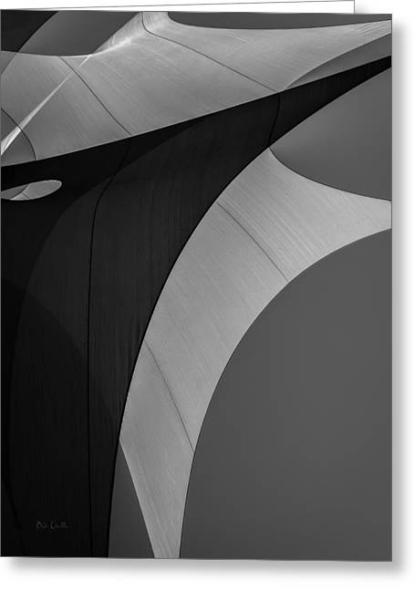 Industrial Greeting Cards - Sailcloth Abstract Number Eight Greeting Card by Bob Orsillo