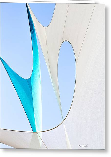 Corporate Greeting Cards - Sailcloth Abstract Number Twenty Greeting Card by Bob Orsillo