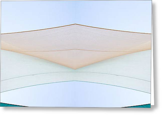 Sailboat Art Greeting Cards - Sailcloth Abstract Times Two Greeting Card by Bob Orsillo