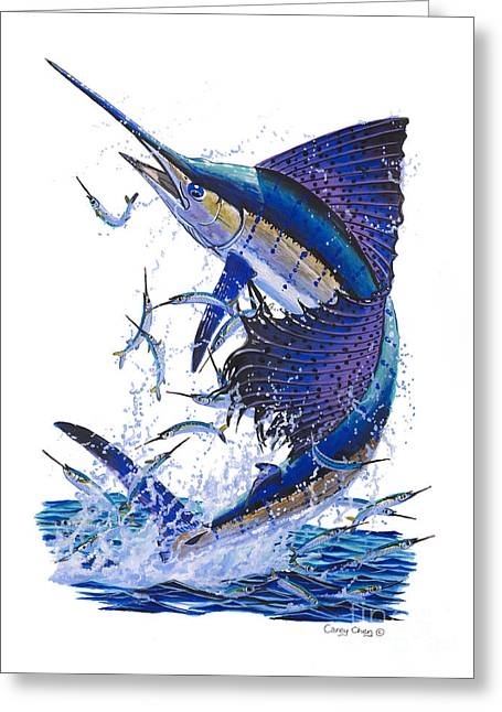 Striped Marlin Greeting Cards - Sailfish Greeting Card by Carey Chen