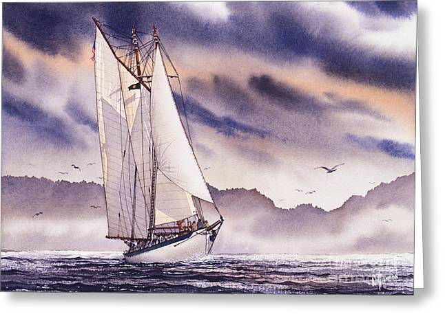 Tall Ships Greeting Cards - Sailing Adventure Greeting Card by James Williamson