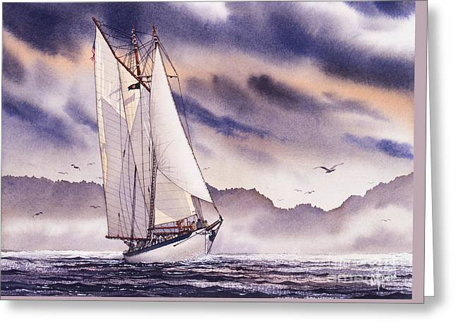 Sailing Ship Framed Prints Greeting Cards - Sailing Adventure Greeting Card by James Williamson