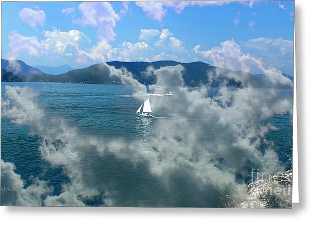 Ocean Sailing Greeting Cards - Sailing Away Greeting Card by Doria Fochi