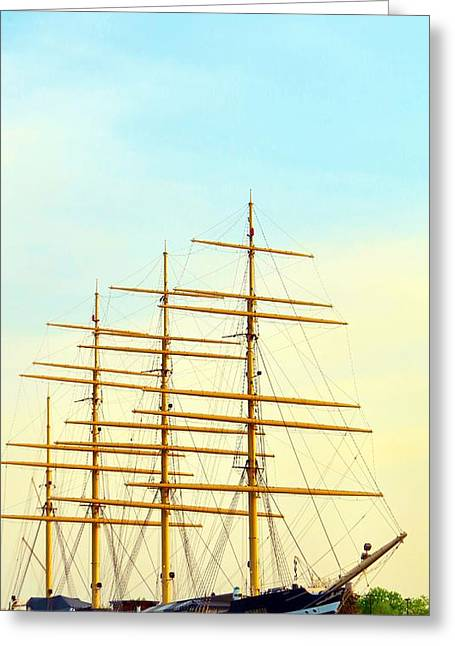 Phillies Framed Prints Greeting Cards - Sailing Away Greeting Card by Michelle Milano