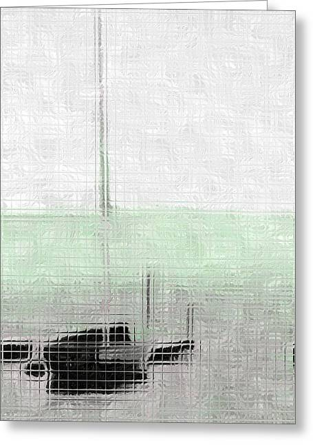 Sailing Ship Mixed Media Greeting Cards - Sailing boat at a dock Greeting Card by Toppart Sweden