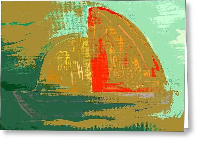 Sailing Ship Mixed Media Greeting Cards - Sailing Boat Greeting Card by Patrick J Murphy