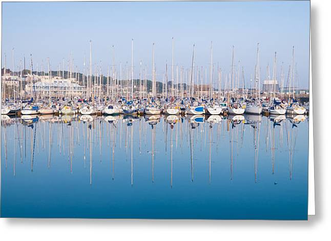 Small Fishing Village Greeting Cards - Sailing Boats in the Howth Marina Greeting Card by Semmick Photo