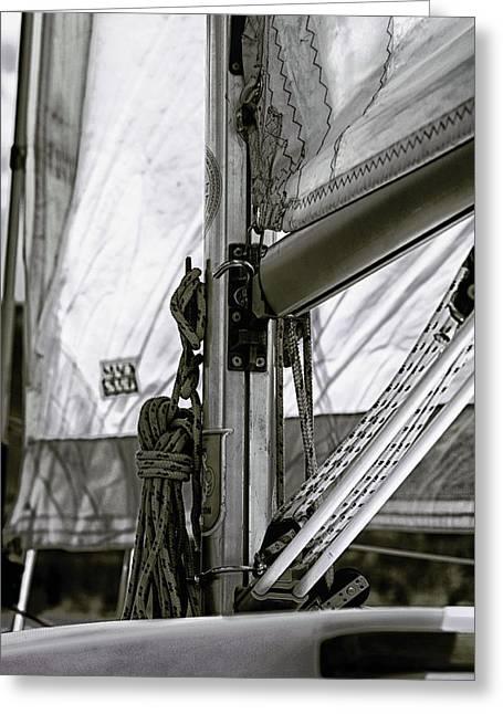 Boat Hardware Greeting Cards - Sailing Greeting Card by Brian Kerls