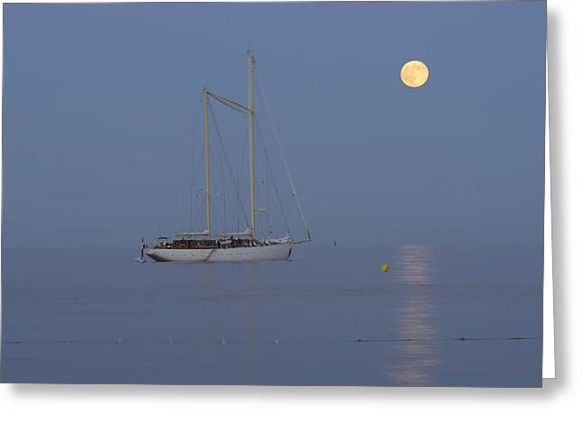 Sailing Greeting Card by Christian Heeb