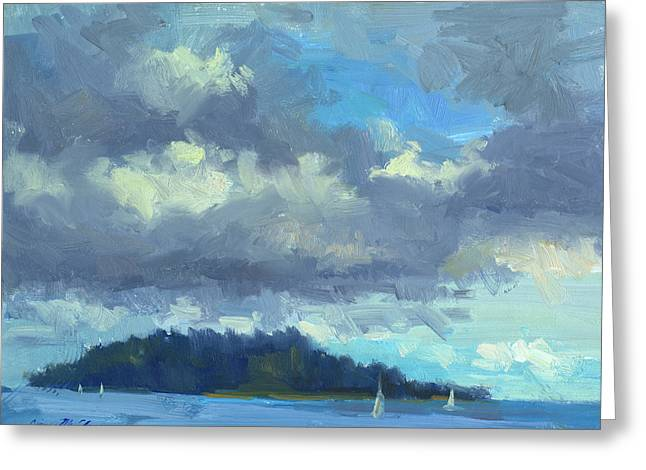 South Puget Sound Greeting Cards - Sailing Greeting Card by Diane McClary