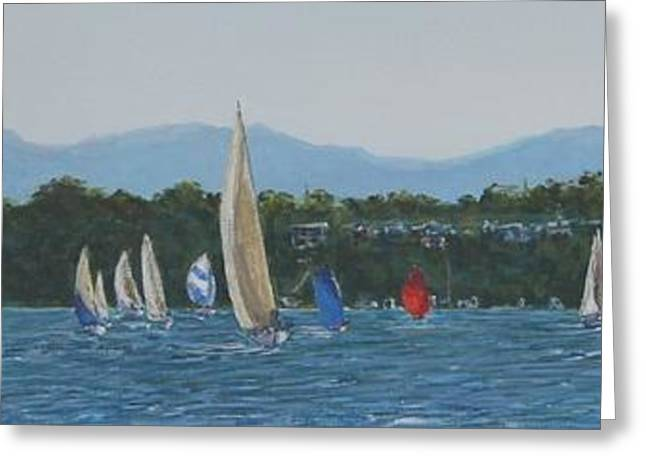 Division Greeting Cards - Sailing From Fishing Point Greeting Card by Nigel Necklen