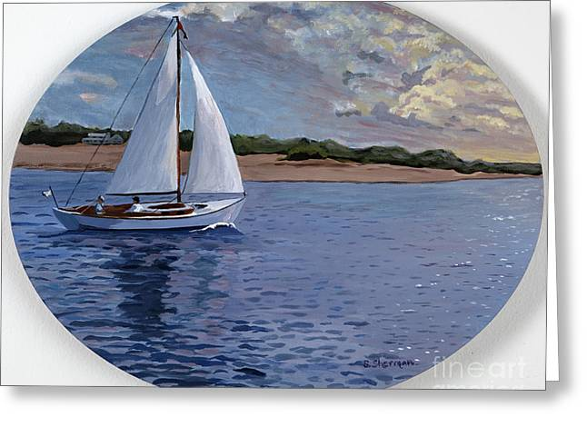 Stella Sherman Greeting Cards - Sailing Homeward Bound Greeting Card by Stella Sherman