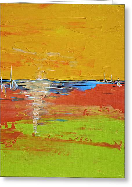 Sailing Into Summer Greeting Card by Donna Blackhall
