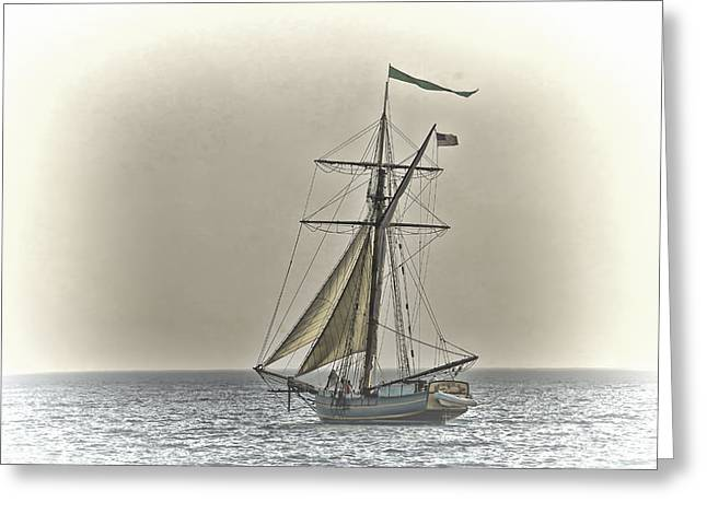 Sailing Off Greeting Card by Jack R Perry