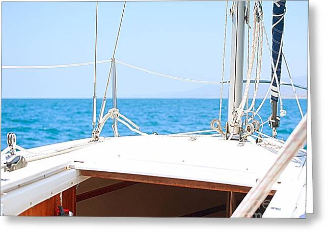 Sailing on a Fine Sunny Day Greeting Card by Artist and Photographer Laura Wrede
