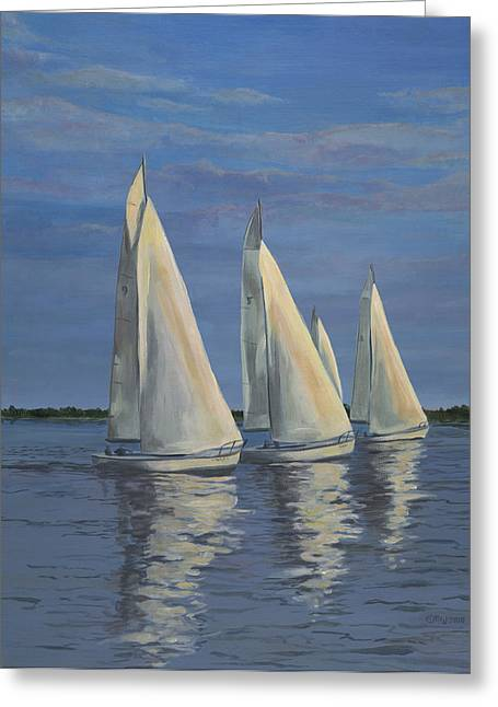 Edward Williams Greeting Cards - Sailing on the Chesapeake Greeting Card by Edward Williams