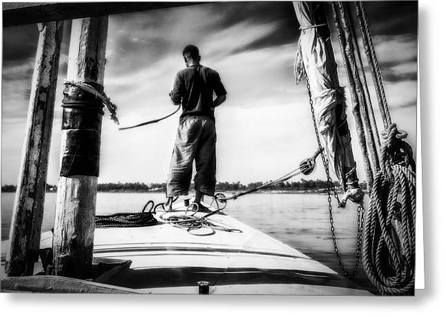 Boat Cruise Greeting Cards - Sailing On The Nile Greeting Card by Erik Brede