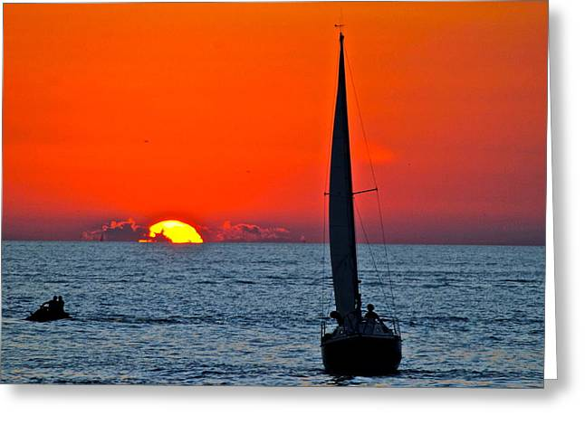 Trance Greeting Cards - Sailing Greeting Card by Frozen in Time Fine Art Photography